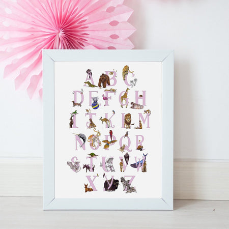 Animal ABC's A3 Art Print - Fawn and Thistle