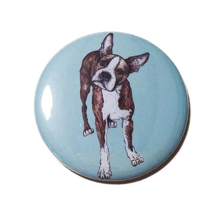 Boston Terrier Pocket Mirror - Fawn and Thistle