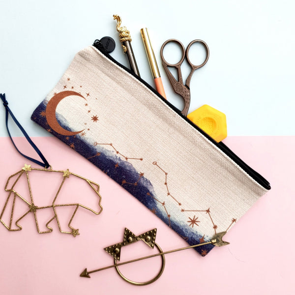 Celestial Moon & Constellations Pencil Case - Fawn and Thistle