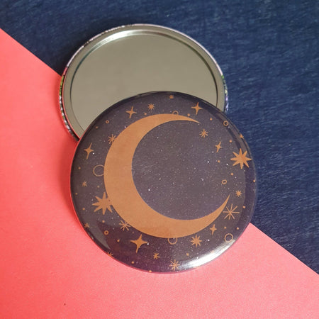 Celestial Moon Pocket Mirror - Fawn and Thistle