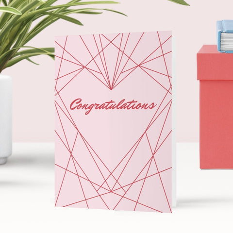Congratulations Geometric Heart Greeting Card - Fawn and Thistle