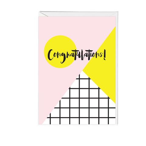 Congratulations Memphis Greeting Card - Fawn and Thistle