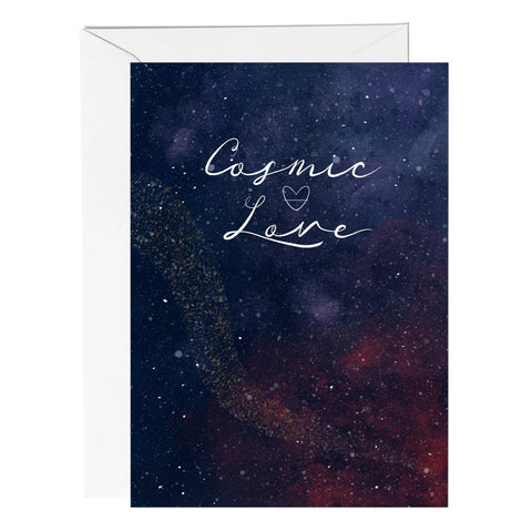 Cosmic Love Celestial Greeting Card - Fawn and Thistle
