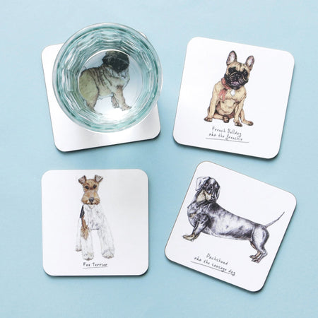 Dachshund Dog Drinks Coaster - Fawn and Thistle