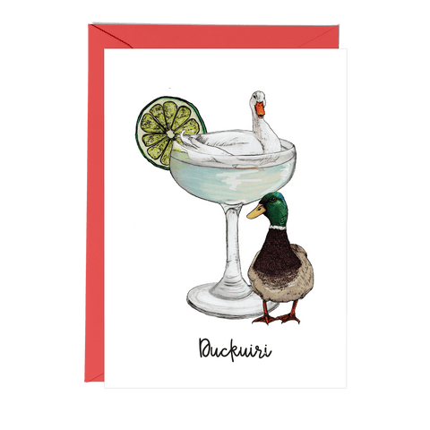 Duckuiri Cocktail Greeting Card - Fawn and Thistle
