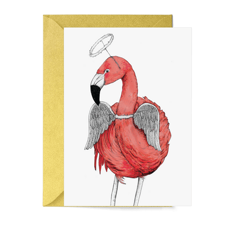 Festive Fiesta Flamingo Christmas Card - Fawn and Thistle