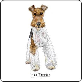 Fox Terrier Dog Drinks Coaster - Fawn and Thistle