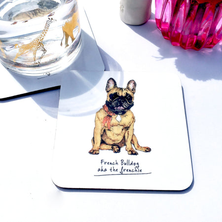 French Bulldog Dog Drinks Coaster - Fawn and Thistle