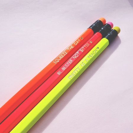 Fruity Puns Neon Pencil set - Fawn and Thistle