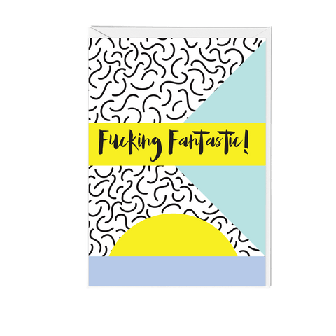 Fucking Fantastic Memphis Greeting Card - Fawn and Thistle