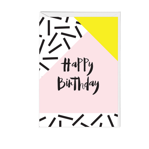 Happy Birthday Memphis Greeting Card - Fawn and Thistle