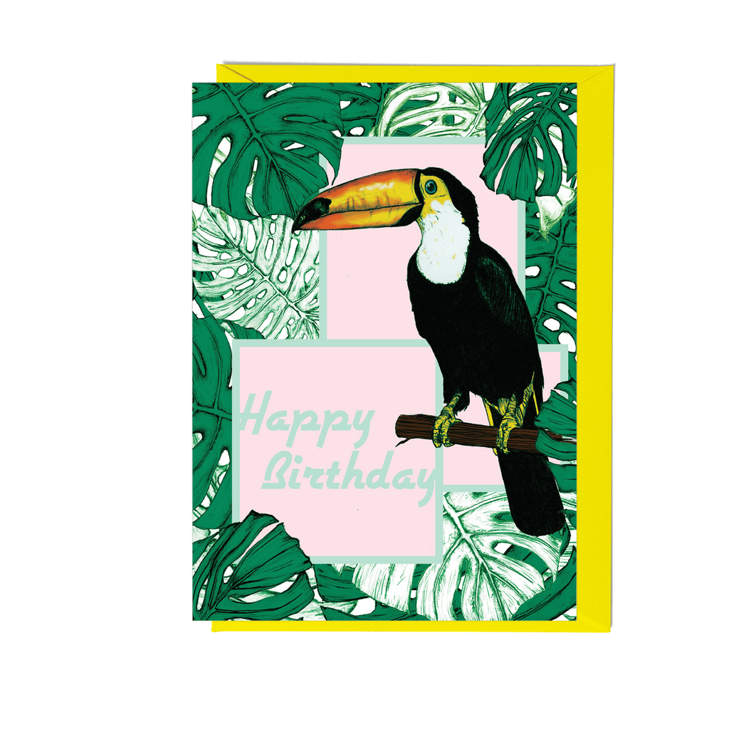 Happy Birthday Toucan Greeting Card - Fawn and Thistle