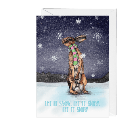 Hare Winter Wonderland Christmas Card - Fawn and Thistle