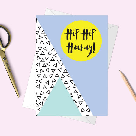Hip Hip Hooray Memphis Greeting Card - Fawn and Thistle