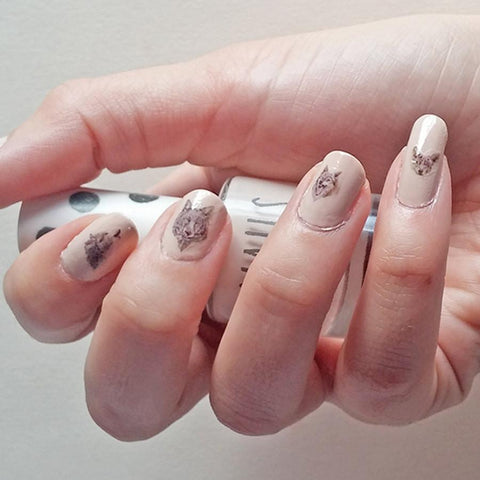 Wolf Nail Tattoo Set