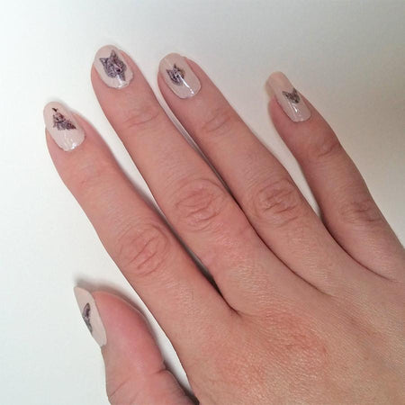 Wolf decals nail art set