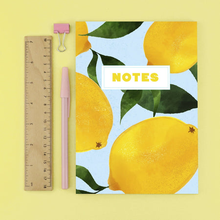 Lemon Plain Page Notebook - Fawn and Thistle