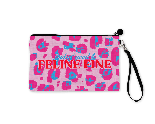 'Looking Good & Feline Fine' Make Up Pouch - Fawn and Thistle