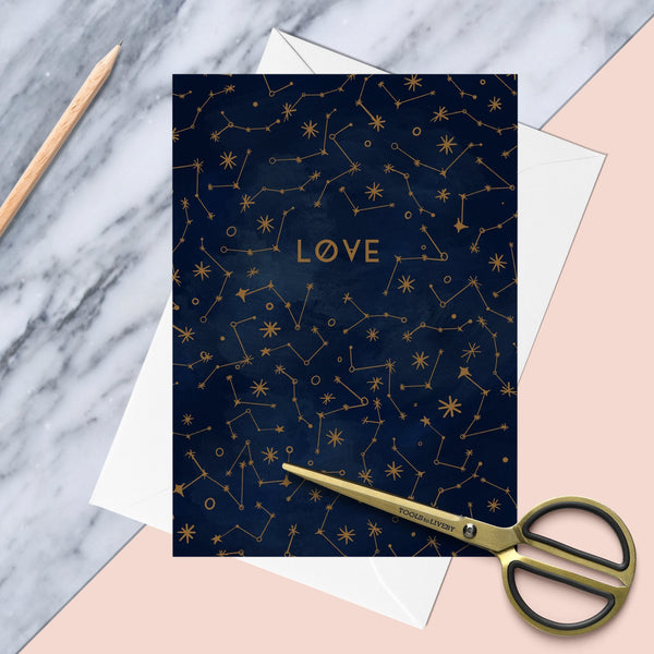 Love Celestial Constellation Greeting Card - Fawn and Thistle