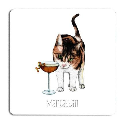 Mancattan Drinks Coaster - Fawn and Thistle