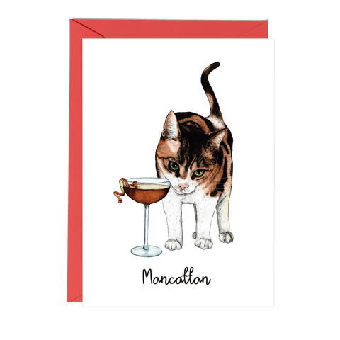 Mancattan Greeting Card - Fawn and Thistle