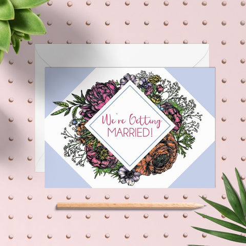 Meadow Floral Diy Wedding Invitation Set - Fawn and Thistle