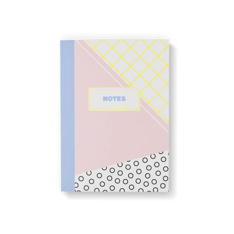 Memphis Plain Page Notebook - Fawn and Thistle