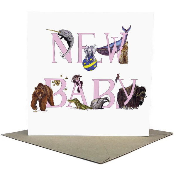 New Baby Girl ABC Greeting Card - Fawn and Thistle