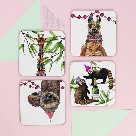 Party Animals Drinks Coaster Set - Fawn and Thistle