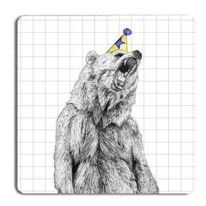 Party Bear Drinks Coaster - Fawn and Thistle