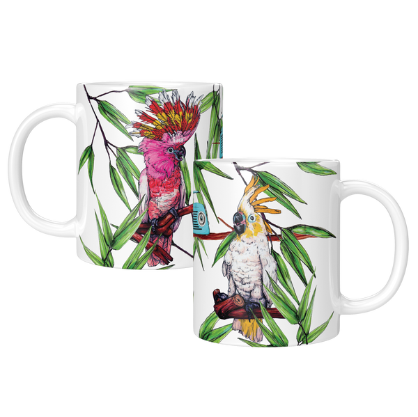 Party Cockatoos Mug - Fawn and Thistle