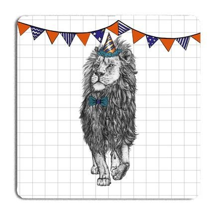 Party Lion Drinks Coaster - Fawn and Thistle