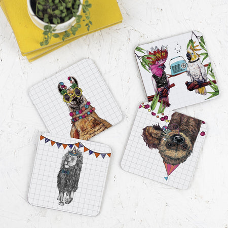 Party Llama Drinks Coaster - Fawn and Thistle