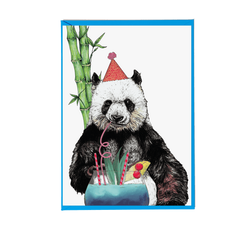 Party Panda Greeting Card - Fawn and Thistle