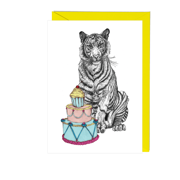 Party Tiger Greeting Card - Fawn and Thistle