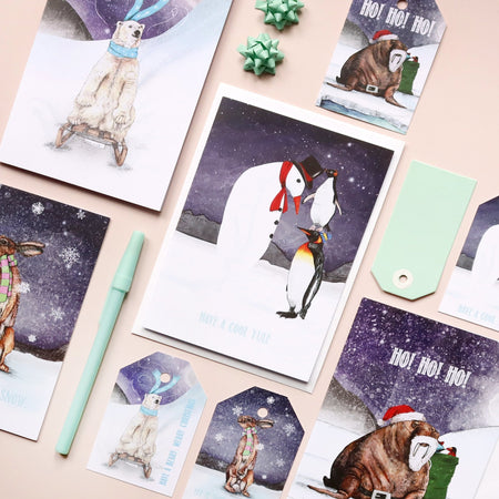Penguins Winter Wonderland Christmas Card - Fawn and Thistle