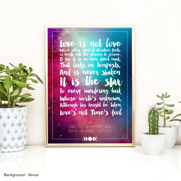 Personalised Favourite Song Lyrics Or Quote Print - Fawn and Thistle