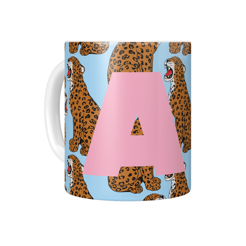 Personalised Initial Leopard Print Mug - Fawn and Thistle