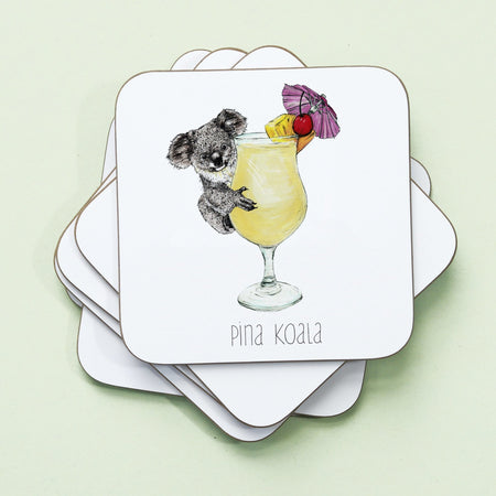 Pina Koala Drinks Coaster - Fawn and Thistle