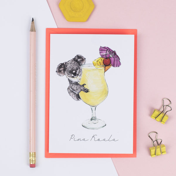 Pina Koala Greeting Card - Fawn and Thistle