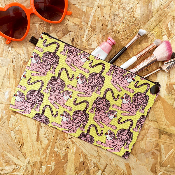 Pink Tiger Make Up Pouch - Fawn and Thistle