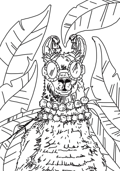 Printable Party Animal Colouring Pages - Fawn and Thistle