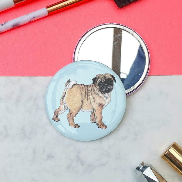 Pug Pocket Mirror - Fawn and Thistle