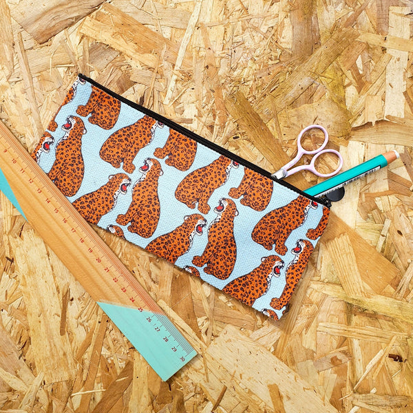 Roaring Leopard Pattern Pencil Case - Fawn and Thistle