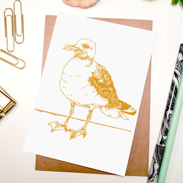 Seagull A6 Greeting Card - Fawn and Thistle