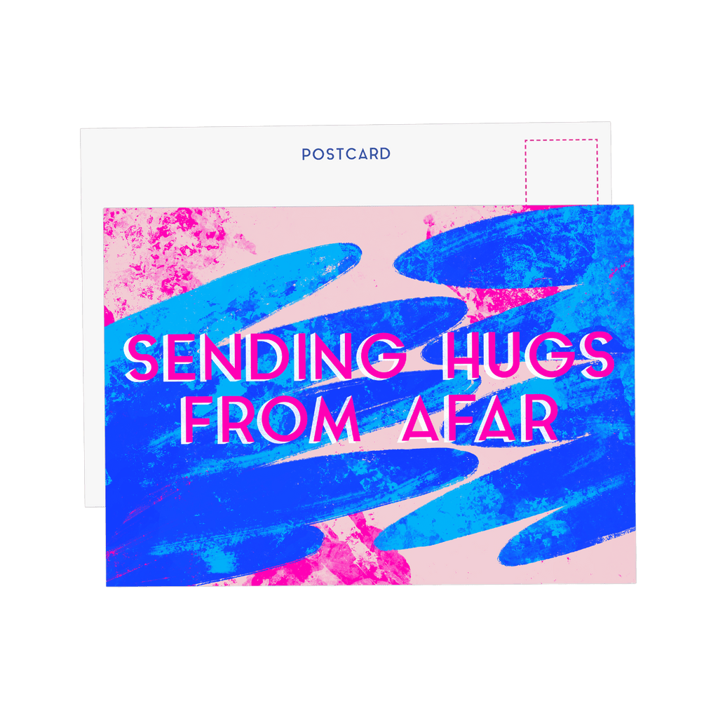 Sending Hugs Postcard - Fawn and Thistle
