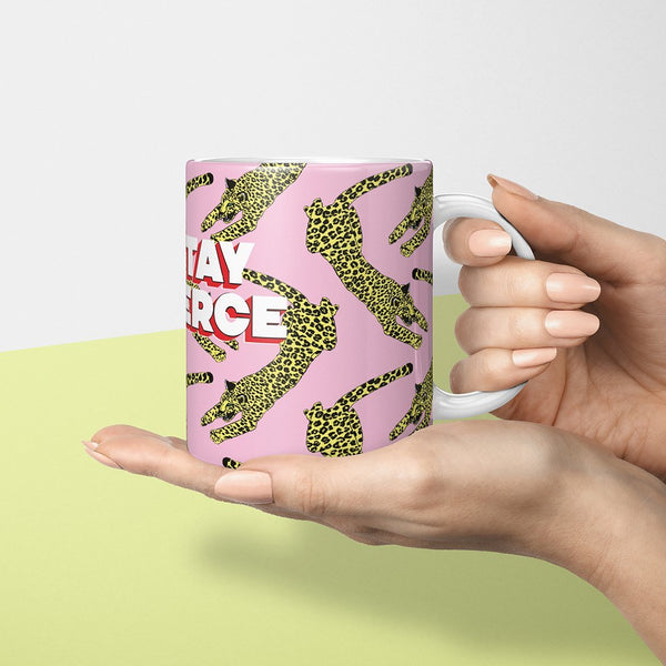 Stay Fierce Leopard Mug - Fawn and Thistle