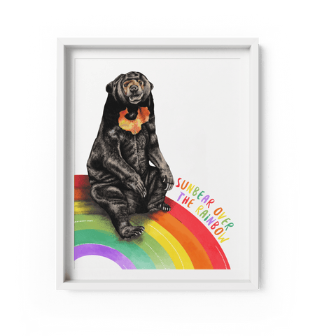Sun Bear Over The Rainbow Art Print - Fawn and Thistle