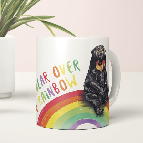 Sun Bear Over the Rainbow Mug - Fawn and Thistle