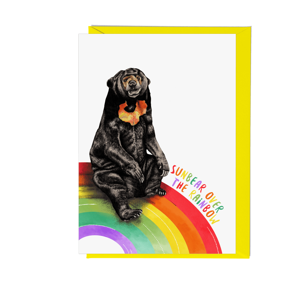 'Sunbear Over the Rainbow' Greeting Card - Fawn and Thistle